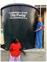 New water tank and chlorinator at Haiti Clinic for Women